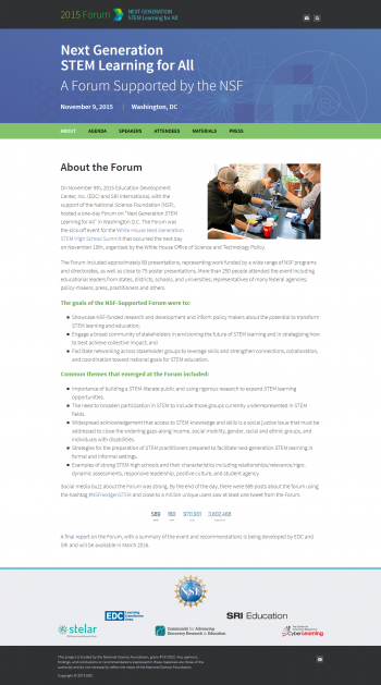 NSF STEM Forum